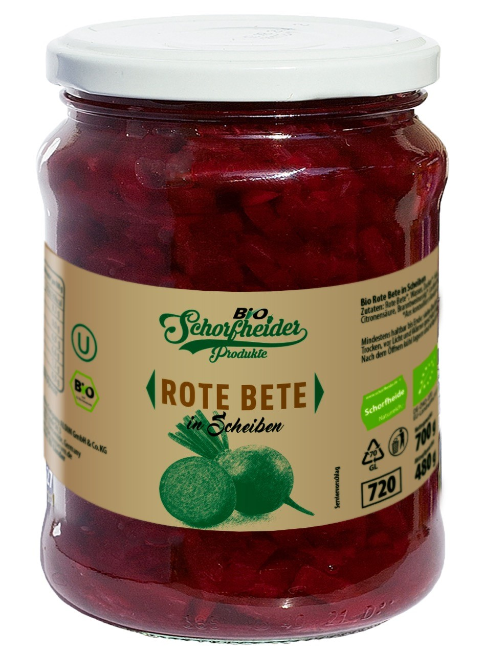 Organic sliced red beets